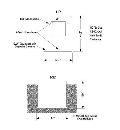 Diagram for Large Transformer Concrete Sleeve Installation