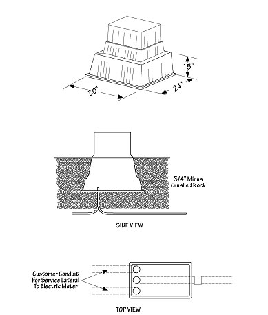 Diagram for Secondary Pedestal Installation