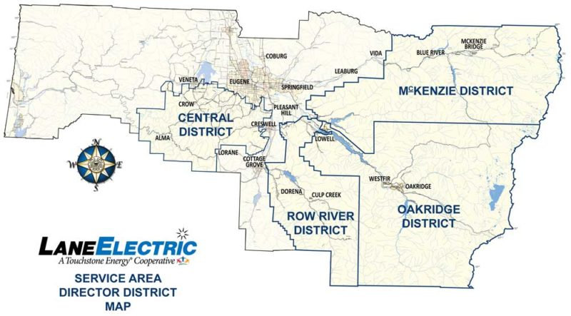 Service Area Map for Lane Electric