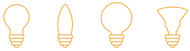 Examples of light bulb shapes