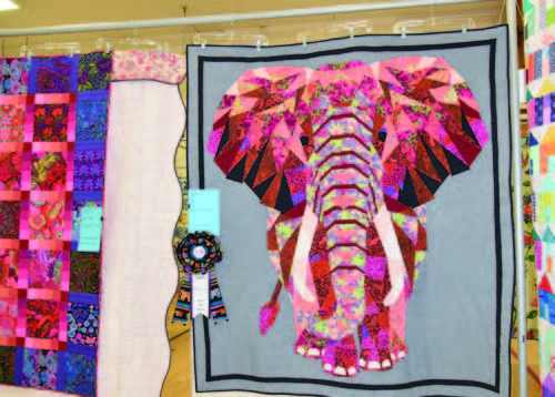The quilt contest is a popular attraction.