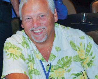 Dave D'Avanzo in a Hawaiian shirt
