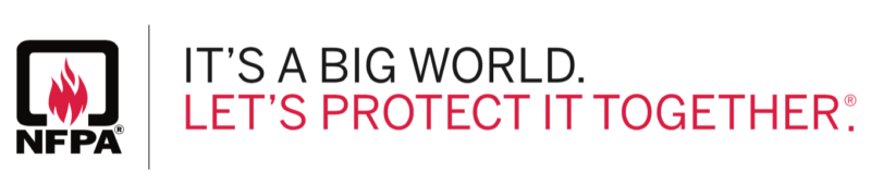 NFPA. It's a big world. Let's protect it together.