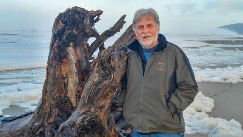 Jack Billings on the beach